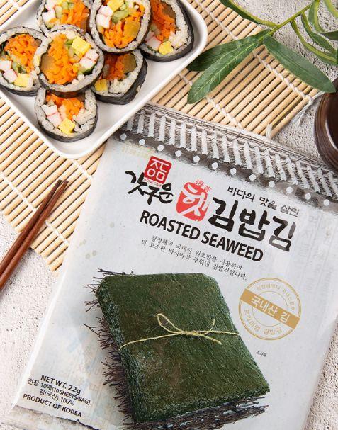 정담 갓구운 햇 김밥김 10매(22g) / 100매(220g)