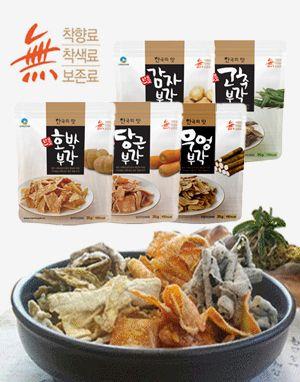 소백산아래 전통 부각 세트(고추+감자+호박+당근+우엉+김+애플슬라이스 각 2팩씩)