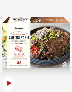 [오모나] 갈비 4팩 Korean Beef Short Rib Galbi
