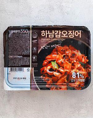 [단일배송] 하남핫푸드 하남갑오징어 보통매운맛 350g  x 10팩