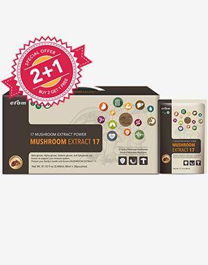 (2+!) 이롬 면역버섯17강 (Erom Mushroom Extract 17) 30 pouches