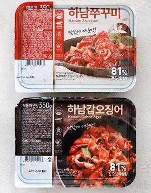 [단일배송] 하남핫푸드 핫쭈꾸미 매운맛 5팩 + 하남갑오징어 5팩