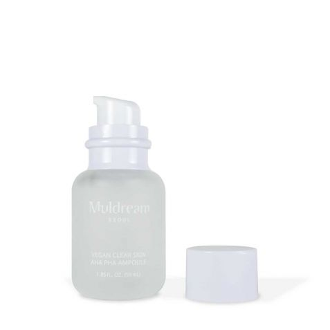 물들임 비건 클리어 스킨 아하파하 모공앰플 Muldream Vegan Clear Skin AHA PHA Ampoule 60ml