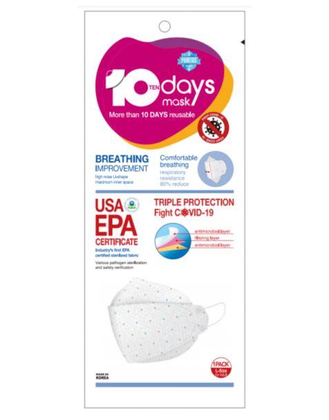 10 DAYS 마스크 (1팩에 3개 총 30개입) USA EPA 인증 제품