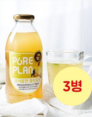 고흥 유자원액 퓨어플랜 클린유자 500ml *3