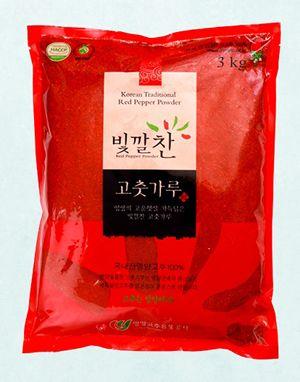 (2020년 햇고춧가루) 빛깔찬 프리미엄 고춧가루 (김치용·보통맛) 3kg