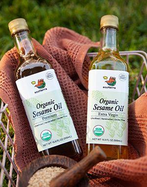 [에코티에라] 100% 유기농 건강한 참기름 (맑은 참기름, 진한 참기름) Organic Sesame Oil Premium/Extra Virgin