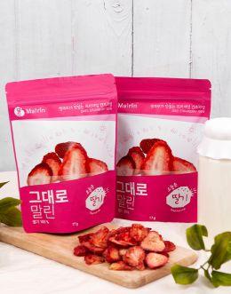 오늘은 딸기 3봉 - 100% 건조과일칩