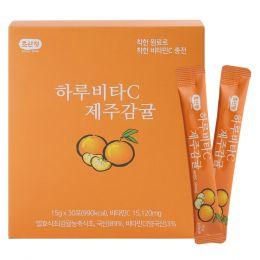 초산정 짜먹는 비타민 하루비타C 제주감귤 (15gx30회)