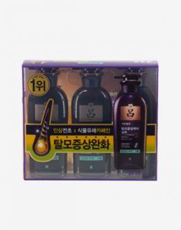 려 자양윤모 탈모증상케어샴푸 민감성 두피 기획 3종 세트