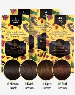 식물성 천연재료 헤나 염색약 Hanah Natural Herb Water Coloring (4가지 컬러 중 택 1) Natural Black / Dark Brown / Light Brown / Red Brown / 리필용도 있음