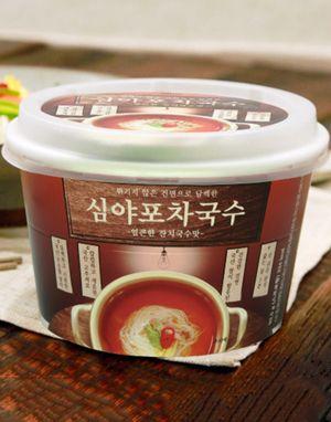튀기지않은 즉석 건면 심야포차국수 1박스 (12개 )- 얼큰한맛
