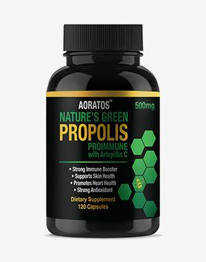 프로폴리스 AORATOS NATURE'S GREEN PROPOLIS 500mg PROIMMUNE with Artepillin C