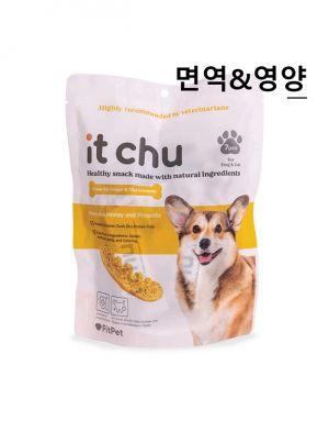 잇츄 옐로우 - 면역&영양 (바게트 덴탈껌 7개)