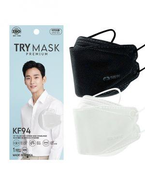 [무료배송] 쌍방울 프리미엄 KF94 MASK 흰색/검은색 - ONLY AT 한국홈쇼핑