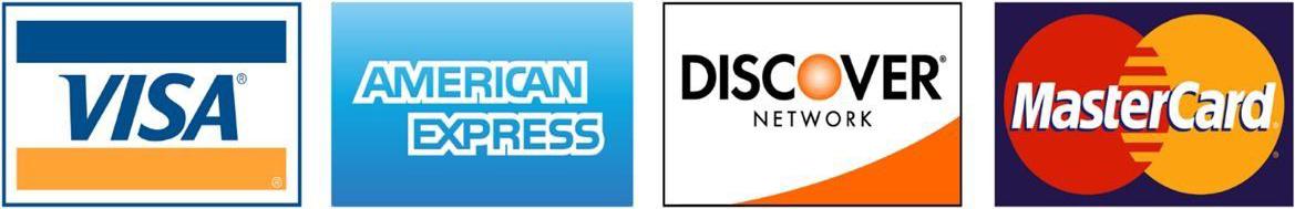 Visa, American express, Discover, MasterCard